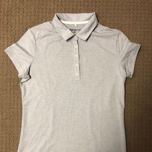 Women's Gray Nike Golf Dri-Fit Polo Size L NWOT